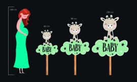 Geboortebord tuin | Hip konijn | *Kies je kleur!*