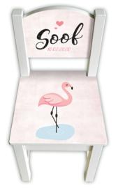 Stoeltje met naam *Flamingo* meisje