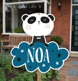 Geboortebord tuin | Panda *Kies je kleur!*