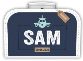 Koffertje Vliegtuig *Koffertje in diverse kleuren verkrijgbaar*