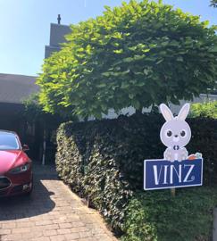 Geboortebord tuin voor Vinz
