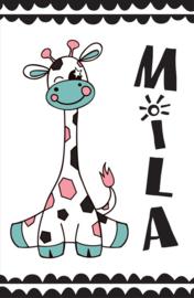 Geboortebord giraffe - meisje