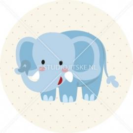 Sluitzegel geboortekaartje olifant - jongen