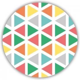 Sluitzegel Trendy geboortekaartje geometrisch design - Jongen