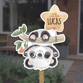 Geboortebord tuin   Panda