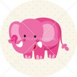 Sluitzegel geboortekaartje olifant - meisje