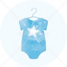 Sluitzegel geboortekaartje rompertje ster