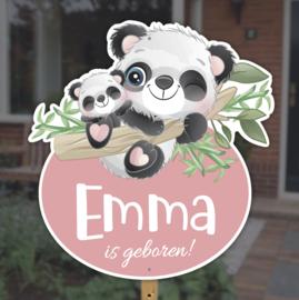Geboortebord tuin   Panda's zusje *Kies je kleur!*