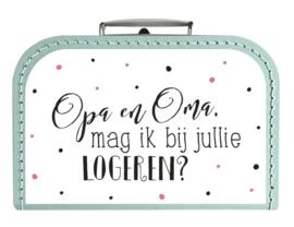 Koffertje Opa / Oma logeren *Kies je kleur!*
