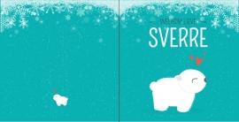 Geboortekaartje winter ijsbeertje - jongen