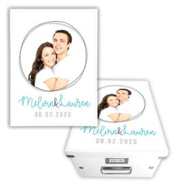 Bewaarbox huwelijks cadeau met foto