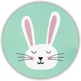 Sluitzegel Geboortekaart konijntje - Jongen
