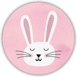 Sluitzegel Geboortekaart konijntje - Meisje