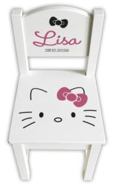 Geboortestoeltje Hello Kitty met naam - diverse kleuren mogelijk