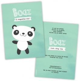 Geboortekaart panda - Jongen