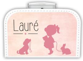 Koffer met naam Silhouet *Koffertje in diverse kleuren verkrijgbaar*