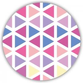 Sluitzegel Trendy geboortekaartje geometrisch design - Meisje