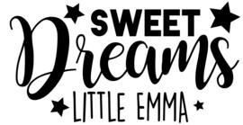 "Muursticker met naam ""Sweet dreams"""