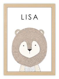 Geboorteposter met naam - LUCKY LION