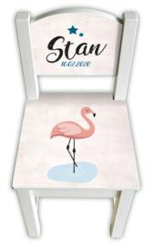 Stoeltje met naam *Flamingo* jongen