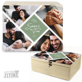 Herinneringsdoos huwelijk met foto's *Kies je kleur!*