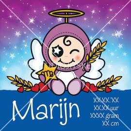 Geboortecanvas sterrenbeeld, Maagd jongen: 24 aug. - 23 sept.