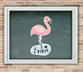 Raamsticker geboorte | Flamingo