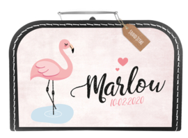 Koffertje flamingo *Koffertje in diverse kleuren verkrijgbaar*