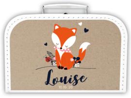 Koffertje vosje meisje *Koffertje in diverse kleuren*