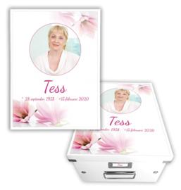Memorybox Magnolia bloem met foto