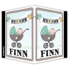 Geboortebord met naam - baby wandelwagen
