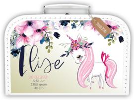 Koffertje met naam Unicorn | Eenhoorn