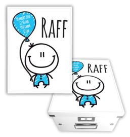 Geboortebox met naam - Kindje ballon