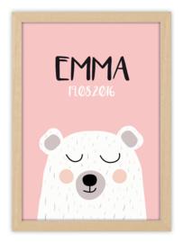 Kinderkamerposter met naam - SWEET BEAR