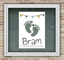 Raambord geboorte voetjes