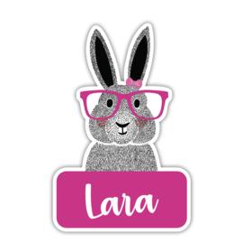 Geboortebord tuin   Hip konijn   *Kies je kleur!*