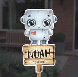Geboortebord tuin | Robot