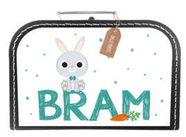 Koffertje konijntje op naam *Koffertje in diverse kleuren verkrijgbaar*