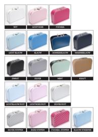 Koffertje met naam panda *Koffertje en bedrukking in diverse kleuren verkrijgbaar*