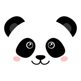 Muursticker kinderkamer Panda Face