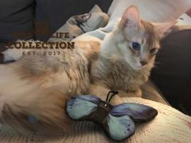 Katten speelgoed - Vlinder catnip ~blauw