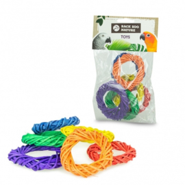 Back Zoo Nature Coloured Woven Rings