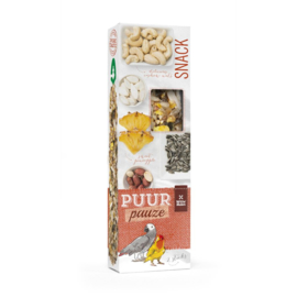 "WM PUUR Pauze ""Pineapple & Peanut""- Snack sticks grote parkiet"
