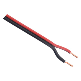 Luidspreker snoer 100 meter 2x0.75mm rood/zwart