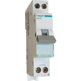 Hager automaat 10A B 2P 1-POLIG +N