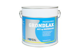 Mondial professionele grondverf waterbasis wit 2,5 LTR