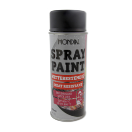 Spuitbus spray paint Hittebestendig zwart mat 400 ml