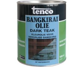 Tenco bankirai olie dark teak waterbasis 1 liter