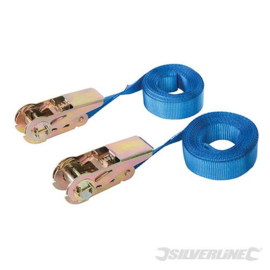 Spanband blauw 5 mtr 250-500 kg 2 stuks