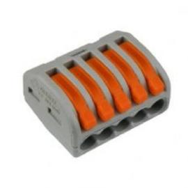 Wago verbindingsklem 5 v grijs tbv flexibele kern